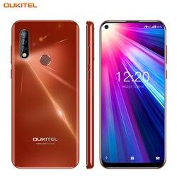 4g telefone móvel oukitel c17 android 9.0 smartphone 6.35 face id rosto id impressão digital octa núcleo 3 gb 16 gb 3900 mah triplo câmera mt6763