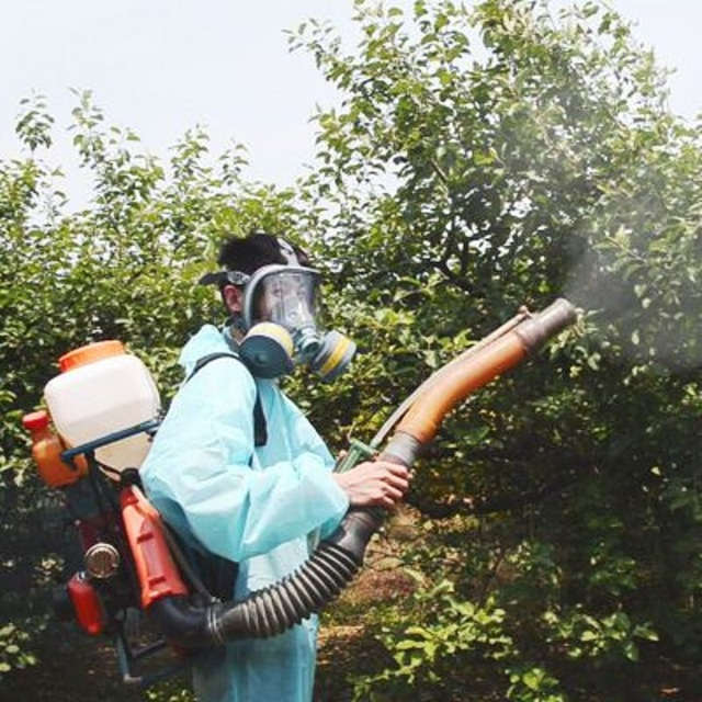 Painting Spray Gas Mask N95 Chemical Full-face Mask Respirator Long Tube Filter Pesticide Ammonia with Automatic Blower 5
