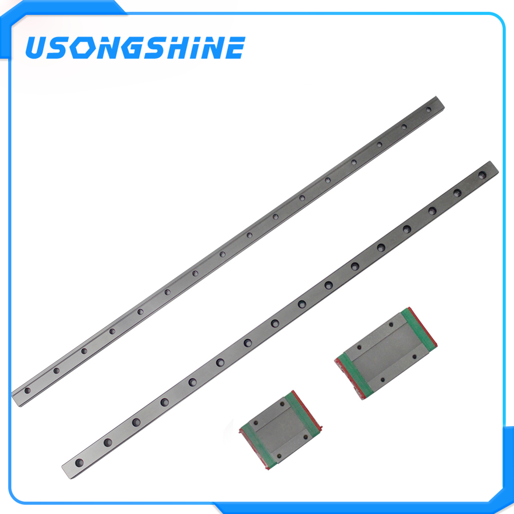 12 Mm Linear Guide MGN12 100 150 200 250 300 350 400 450 500 550 600 700 Mm Linear Rail + MGN12H atau MGN12C Blok 3d Printer CNC