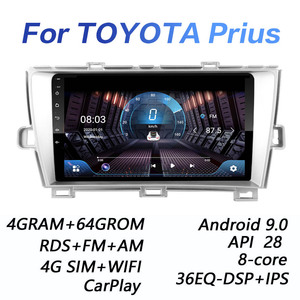 4GRAM+64GROM DSP 2 din Android 9.0 4G NET Car Radio Multimedia Video Player for Toyota Prius 2010 2011 2012 2013 CANBUS carplay