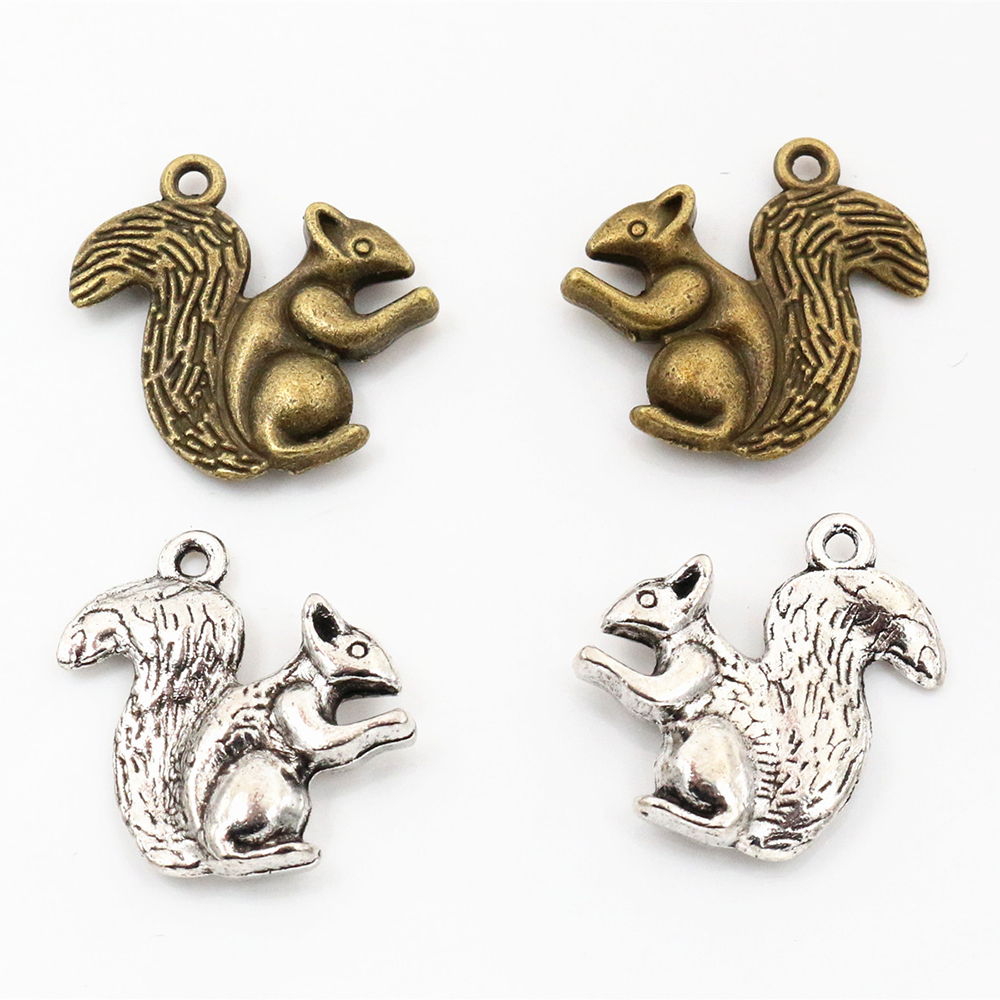 Squirrel Charm Charms for Bracelets and Necklaces