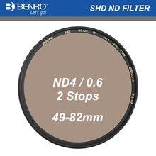 Benro SHD ND4 0.6 (2 Stops) Round Glass Filter Multi Coating for Camera Lens 49 52 55 58 62 67 72 77 82mm Neutral Density