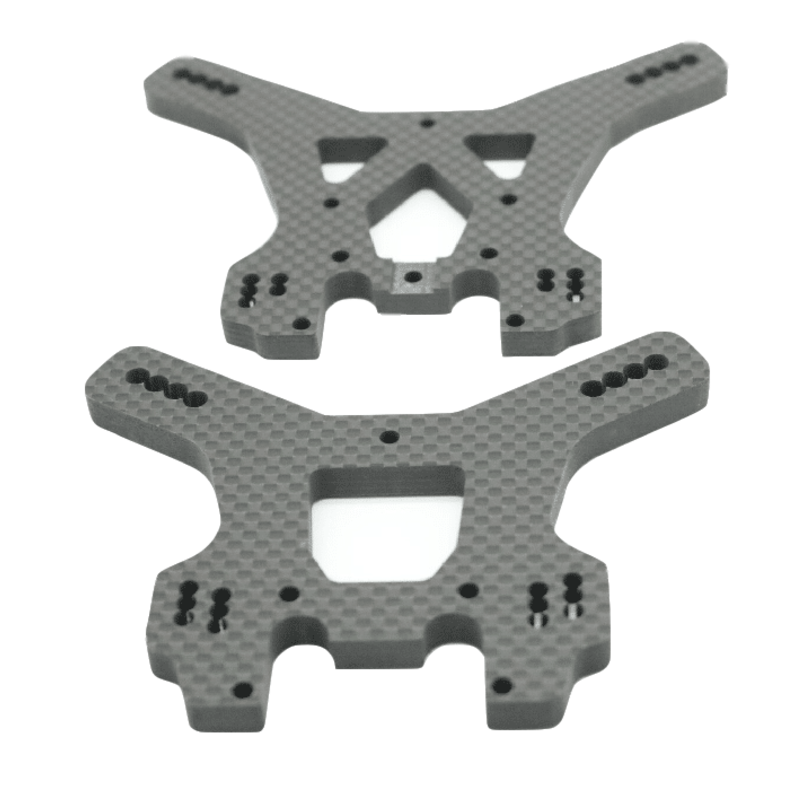 Front Rear Carbon Fiber Shock Absorber Fixed Bracket Tower for 1/10 TEKNO EB48.3 RC Car Update Spare Parts