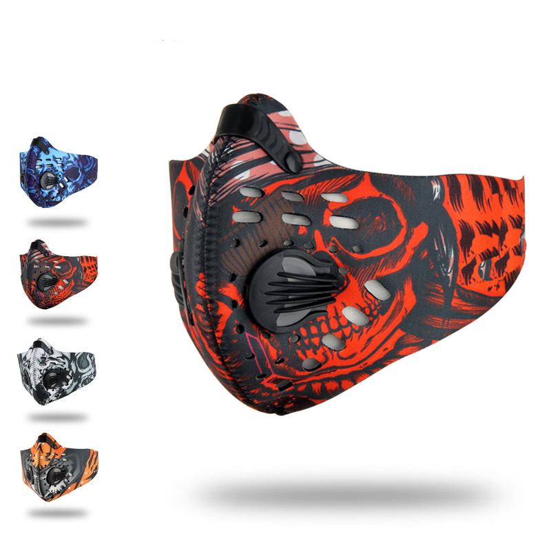 Cycling Hlaf Face Mask Men/Women Activated Carbon Ski Dust-proof  Anti-Pollution Bicycle Bike Outdoor Training Mask Face Shield