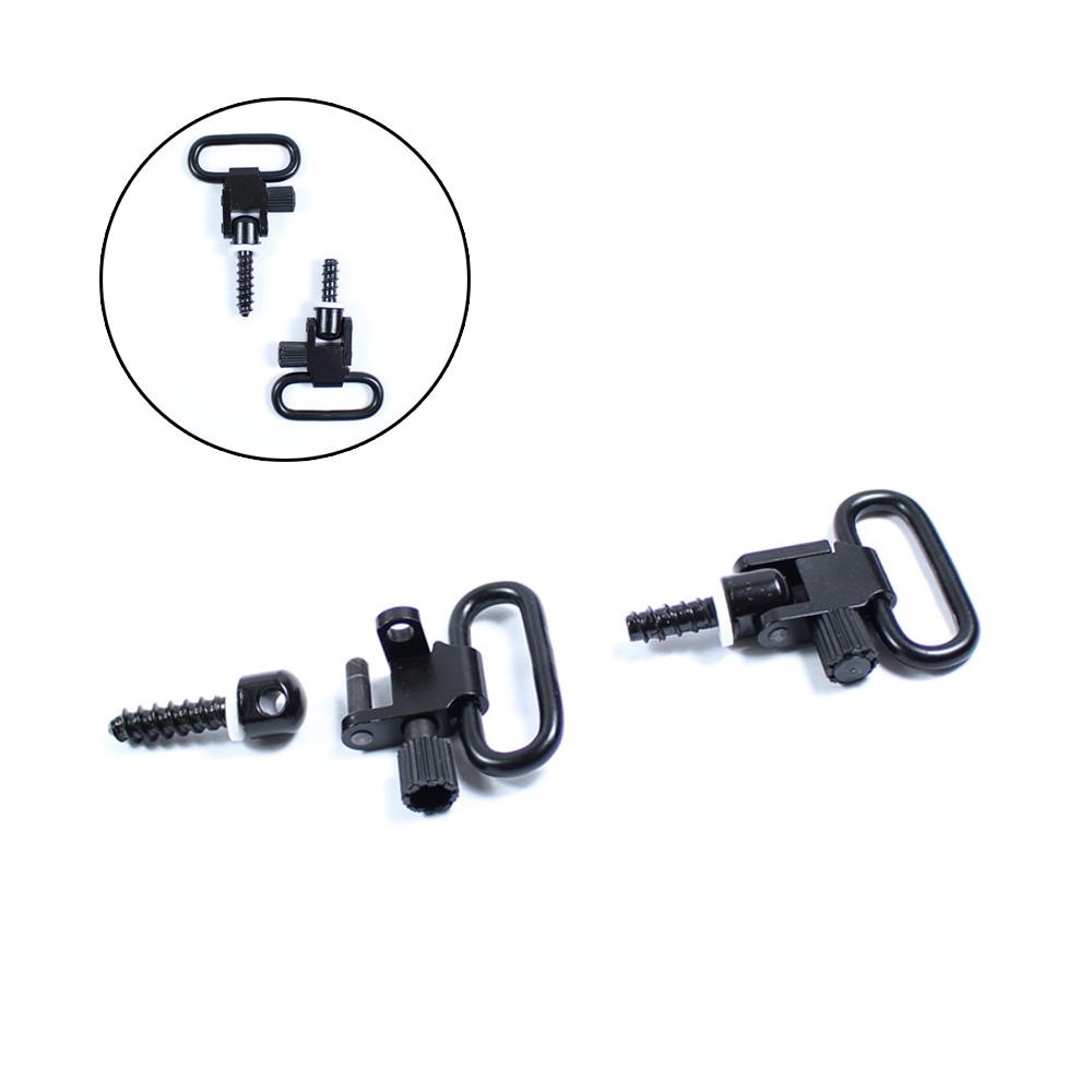 2Pcs/set Quick Detach Sling Swivels Stud 1'' Hunt Accessories Kit For Tactical Rifle Hunting W/Screws Sling Mount