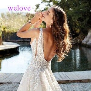 Image 4 - Robe de mariee New arrival 2020 New Summer Beach Wedding Dress with Straps White Open Back Wedding Dresses Vestige De Noiva