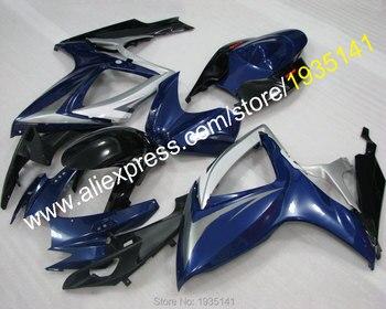 For Suzuki GSX-R600 GSX-R750 K6 2006 2007 GSXR600 GSXR750 06 07 Dark Blue Aftermarket Motorbike Fairing (Injection molding)
