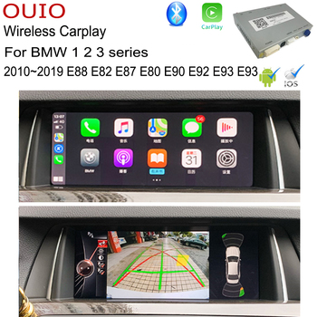 Android Carlief / Wireless Carplay For BMW 1 2 3 series E88 E82 E87 E80 E90 E92 E93 E93 EVO NBT CIC Rear camera Interface Adapte image