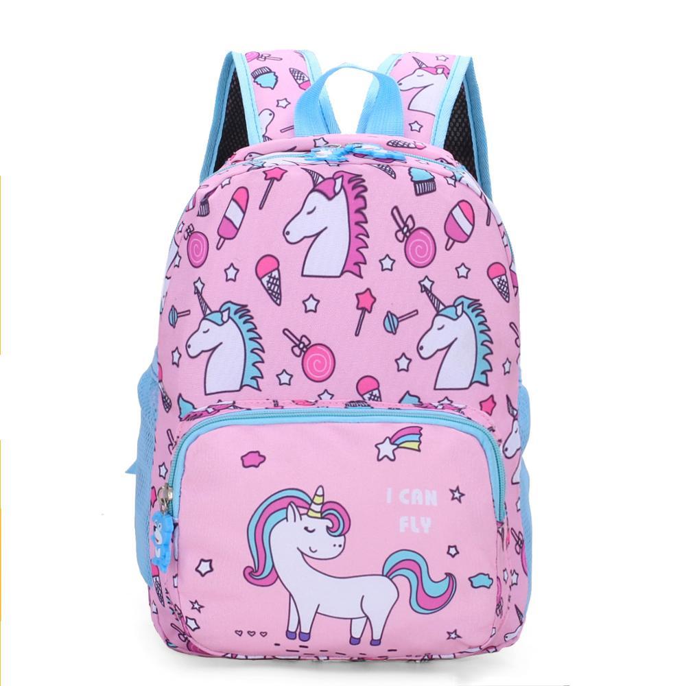 Новые детские школьные ранцы для мальчиков и девочек с изображением единорога, школьные рюкзаки для детей в детском саду, детские школьные сумки с изображением животных, Mochila Infantil|Школьные ранцы| - AliExpress