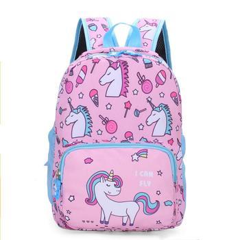 Novo unicórnio crianças sacos de escola para meninos e meninas do jardim de infância mochilas escolares para crianças animais crianças mochila infantil