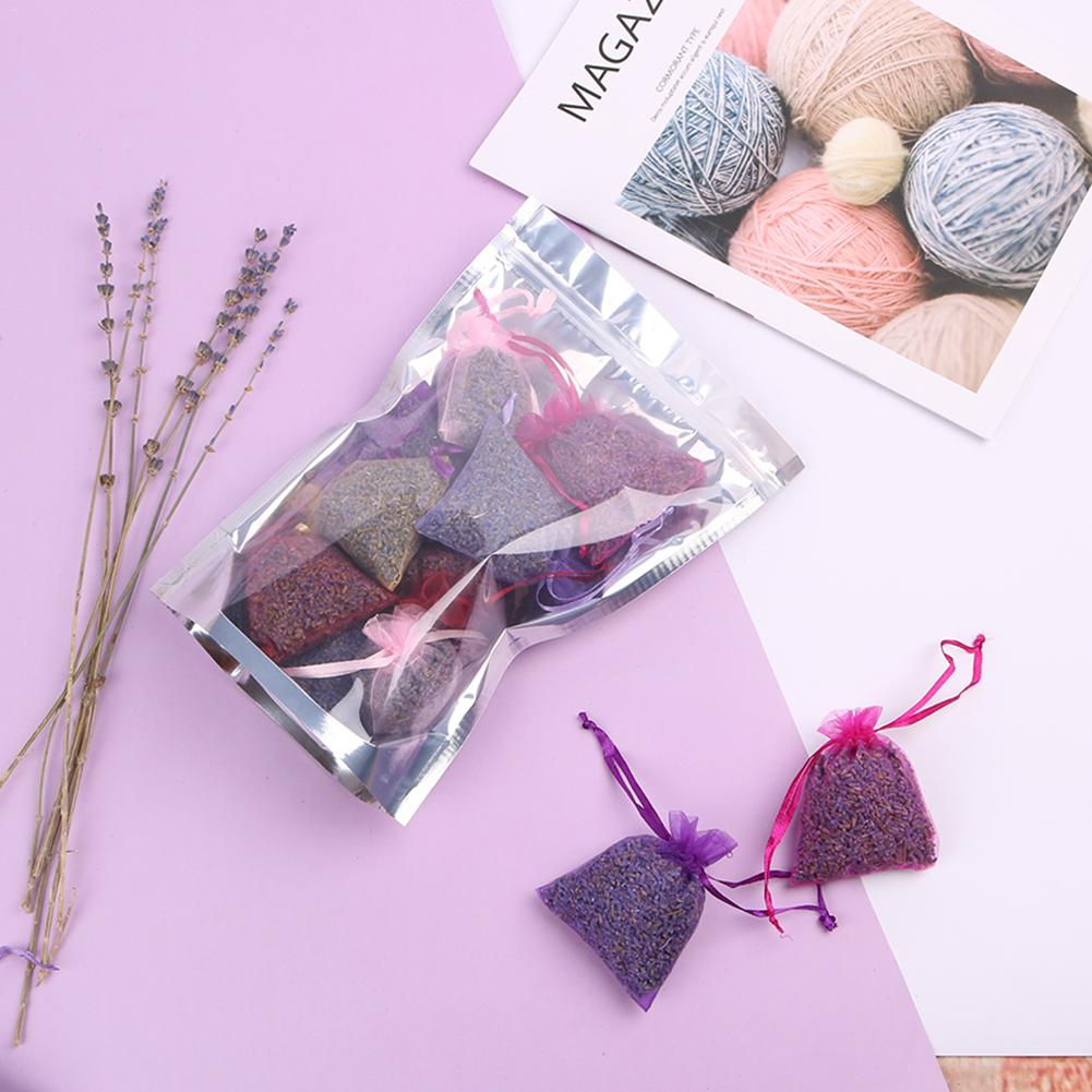 15Pcs Lavender Scented Sachets Bag Organza Bags Dried Flower Sachet Bags Aromatherapy Car Room Air Refreshing Sachet