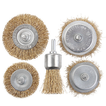 5pcs/set 6mm Steel Wire Brush For Metal Rust Removing Polishing Brush Metal Grinding and Thickening Steel Wire Ball For Cleaning metal stainless steel brush double copper wire brush for tpu pff paint protection self healing test mo a73