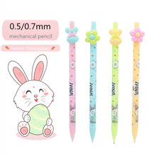 Cute candy color small flower Mechanical Pencil 0.5 or 0.7mm 2B black pencil lead refills
