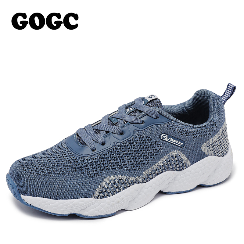Platform Sneakers Women Knitted Casual Shoes Woman White Black Sneakers  Ladies Flats Trainers Dad Shoes G6502