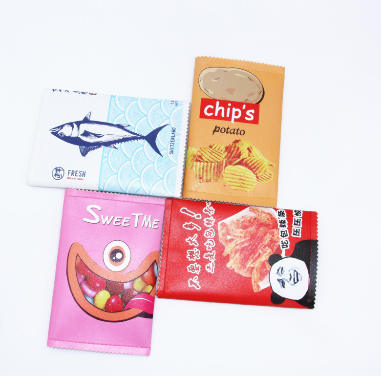 New Style Stationery Pencil Case Model Fun Snacks Stationery Bag Creative Students Large-Volume Pencil Bag Purse