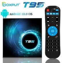 ТВ приставка t95 android 10 netflix 6k hd медиаплеер allwinner