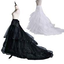 Skirt Petticoat Wedding-Dress Long-Trailing Drawstring Bride 2-Hoops Fishtail Yarn Elastic-Waist