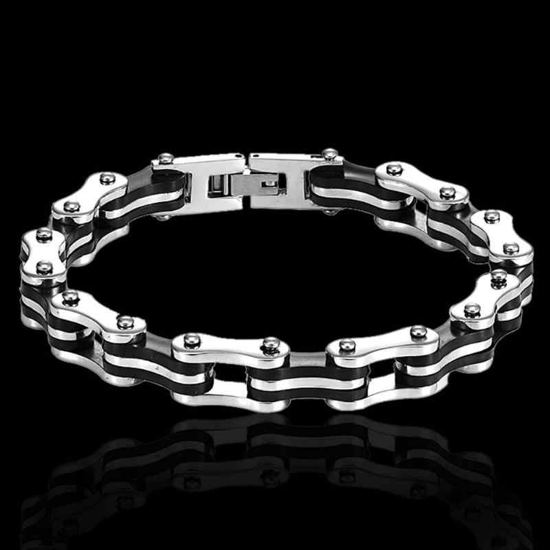 Stainless Steel Bike Bicycle Bracelet Men Personality Electroplate Bracelets Motorcycle Punk Style Bangle Jewelry Party Supplies