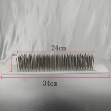 One Pair White Hair Hackle With 100 PCS Needle For Raw Hair Making Remy Human Hair Extensions Comb Machine Weft Tools