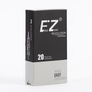 Image 5 - EZ מהפכה קעקוע מחטי מחסנית עגול ספינות #12 0.35mm ארוך להתחדד 5.5mm עבור מחסנית מכונת ואוחז 20 יח\קופסא