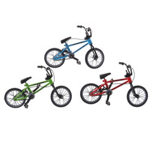 New Metal mini BMX Finger Mountain Bikes Skateboarding Fingerboard Toys mini-finger-bmx biciclet Game Gift for children toy bike(China)