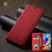 Funda con tapa para Xiaomi POCO F3 M3 X3 NFC 10T Lite Redmi 9A 9C 9T K40 Note 7 8 9 10S Pro Max, Funda de cuero con soporte para tarjetas