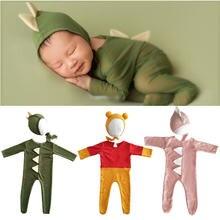 Комбинезон шапка klv детский мультяшный костюм динозавра Ромпер