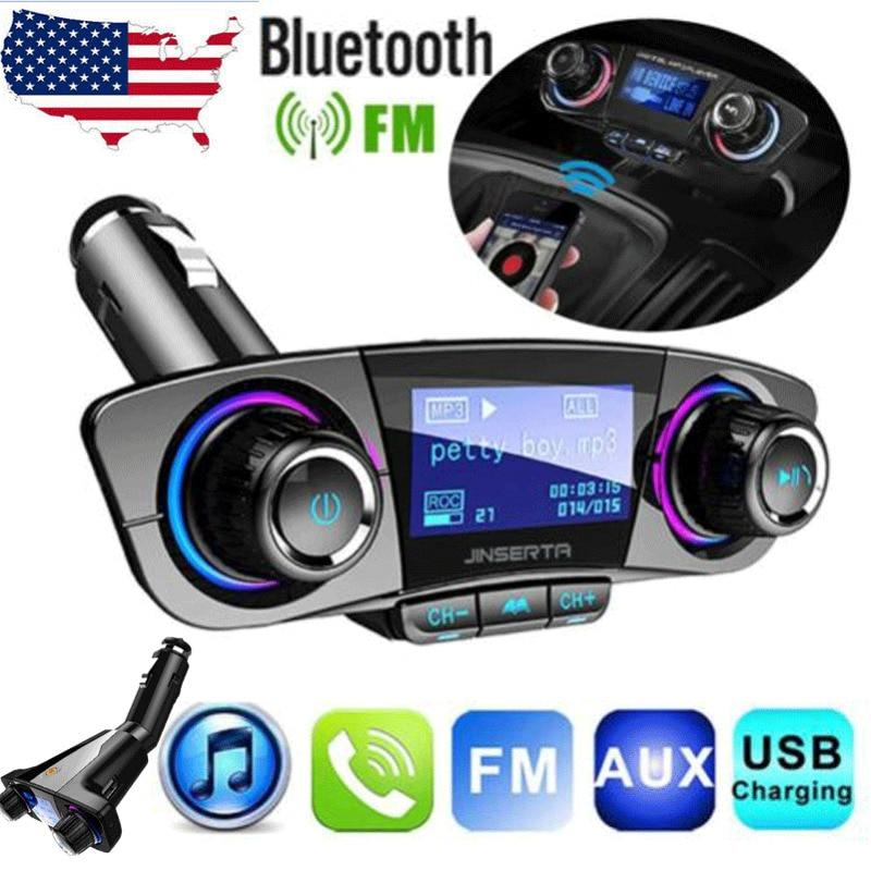Bluetooth Car FM Transmitter MP3 Player Hands free Radio Kit USB