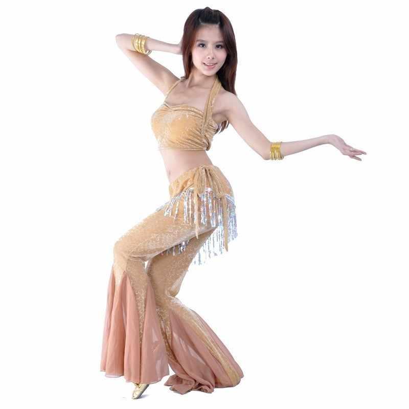 พู่สีแดง BellyDance เครื่องแต่งกาย Belly-เต้นรำ-เสื้อผ้าอินเดียชุดผู้หญิงเต้นรำ Orientale Sari อินเดียเสื้อผ้าชุด