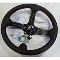 14 дюймов 350 мм модифицированное рулевое колесо кожаный руль автомобильный гоночный руль алюминиевая полка