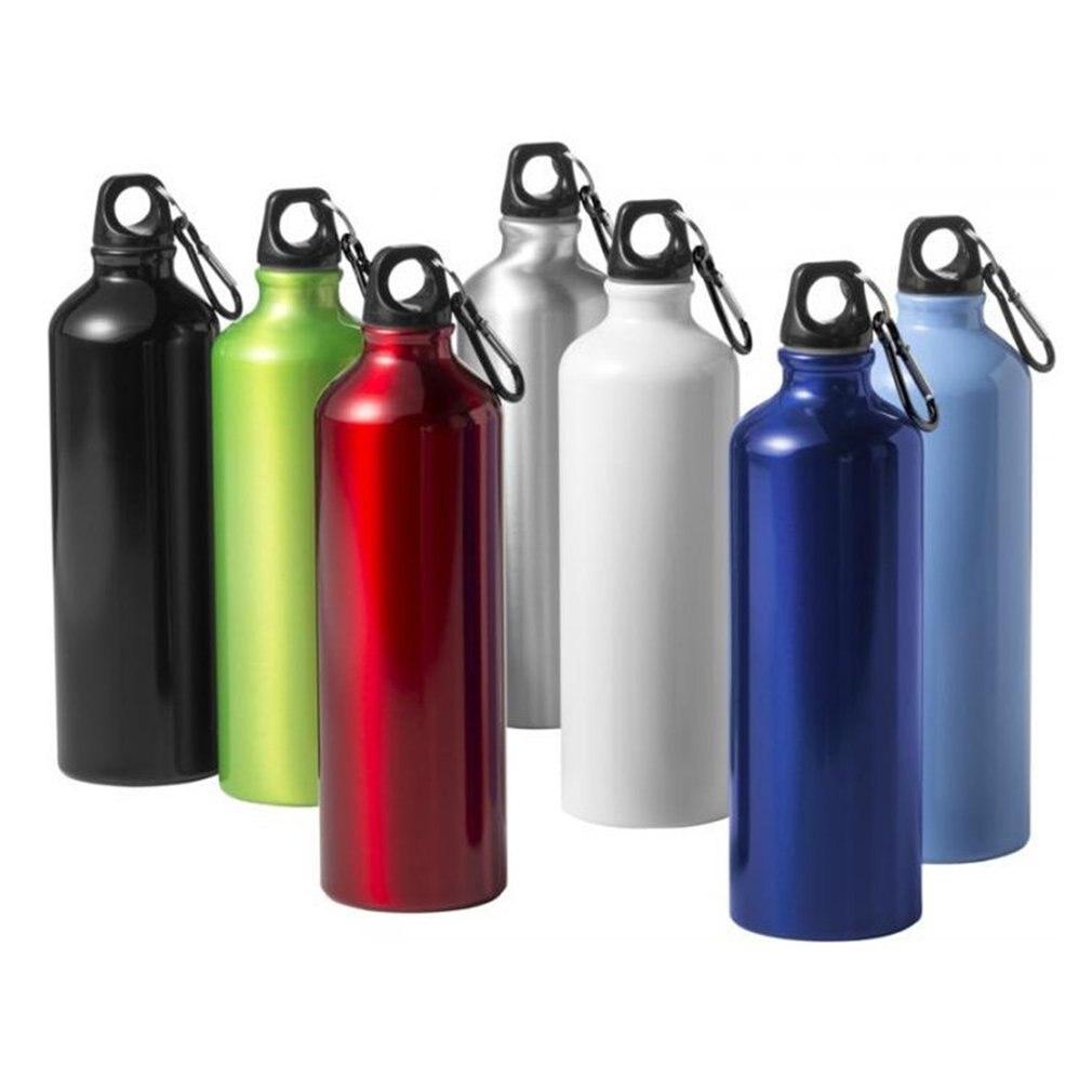 400//500//600ml Aluminum Alloy Outdoor Bike Sport Water Bottle Drinking Kettle+Lid