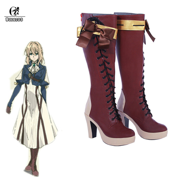 ROLECOS Violet Evergarden Cosplay Shoes Violet Evergarden Boots Customer Size Made Anime Cosplay anime voltron legendary defender keith boots cosplay shoes custom made