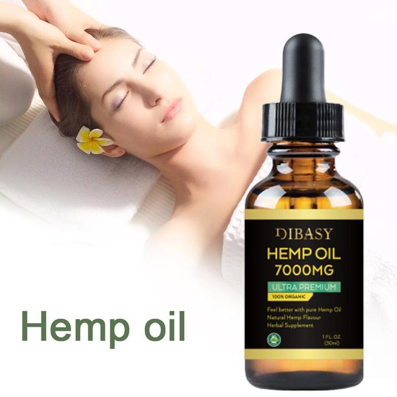 100% CBD 7000mg Drops Organic Hemp Seed Oil Herbal Drops Bio-active Essential Oil Drop For Pain Relief Reduce Sleep Anxiety
