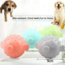 Pet Ball Interactivity Rubber Dog Toy 4 Colors Makes Funny Sounds When Touched DAG-ship