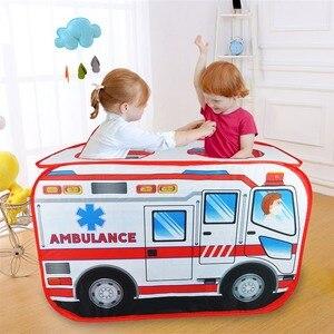 Image 4 - Детская игровая палатка, игрушечная Игровая палатка для машины скорой помощи, Игровая палатка для дома и улицы, детская игровая площадка, Игровая палатка
