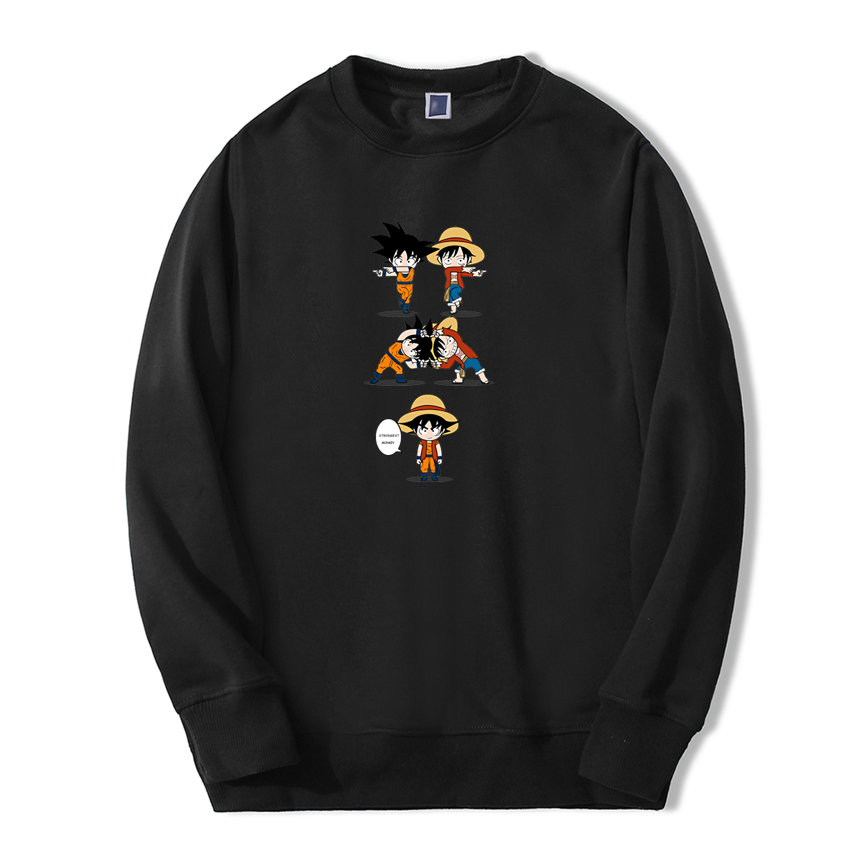 One Piece Dragon Funny Print Sweatshirt Japan Anime Strongest Monkey Streetwear Man Fashion Hoodie Harajuku Fleece Sportswear