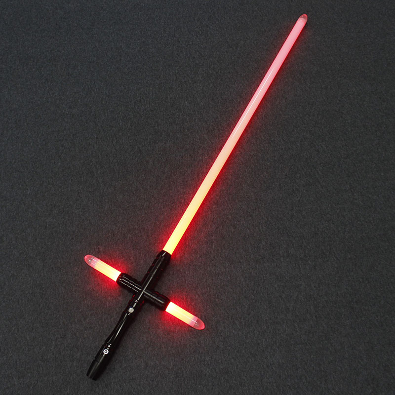 Lightsaber YDD Metal Hilt Small Cross Light Saber Force FX Heavy Dueling LED Lightsaber With FOC Lock Up Luminous Toys