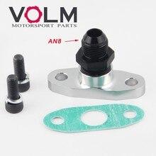 1/2 npt feminino alumínio dreno de óleo turbo flange t3 t4 t04 gt40 gt55 1/2npt para 8an alargamento montagem