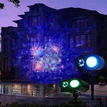 Colorful 16 Slides Ocean Wave Stage Lamp Outdoor Christmas Laser Projector Light Snowflake Star Projector Party Garde Decoration(China)