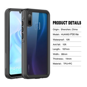 """Image 2 - Waterproof Case for Huawei Honor 20 Lite Russian Version 6.15"""" MAR LX1H Full Protection Swimming Diving Outdoor Shockproof Case"""
