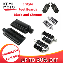 Motorcycle Front Rear Foot Pedal Boards Highway Pegs 10mm 3/8