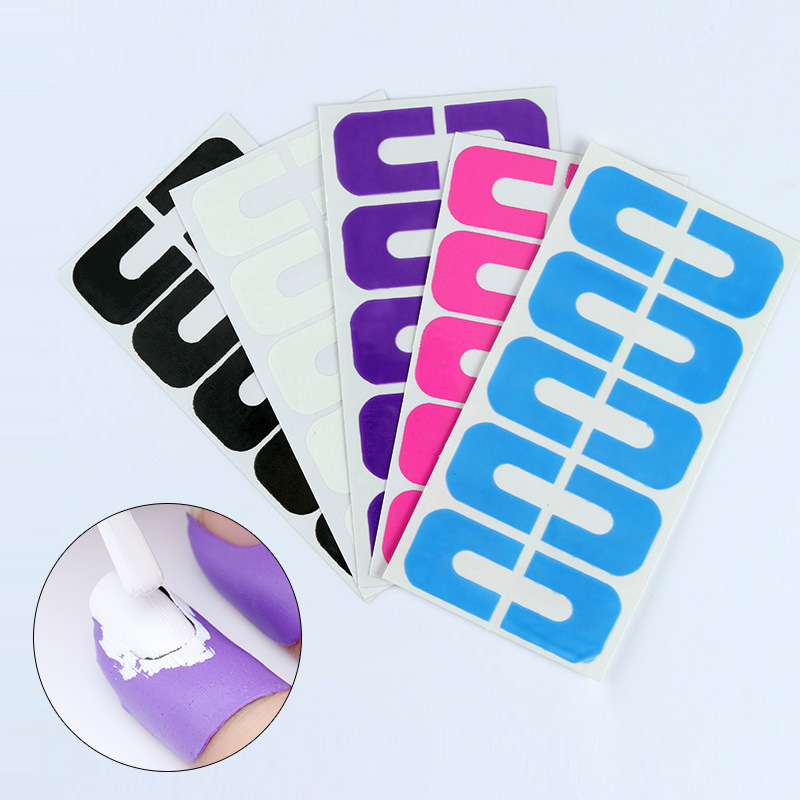 Nail Beauty Product Nail Polish Anti-Overflow Stickers U-Shaped Stickers Anti-Nail Polish Overflow Nail Spill-proof Protector Na