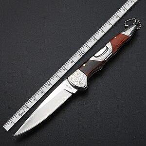 Image 5 - Складной нож высокой твердости, портативный уличный клинок, для кемпинга, охоты, самообороны