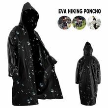 Transparent Raincoat Hooded Plastic Hiking Outdoor Waterproof Portable Women Camping