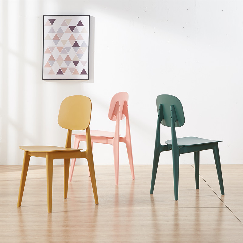 Rabbit Plastic Chair Dining Chairs For Dining Rooms Modern Restaurant Furniture Living Room Bedroom Kitchen Plastic Dining Chair