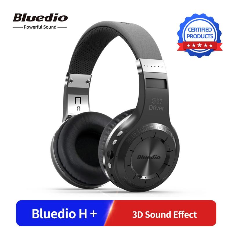Original Bluedio H + sans fil Bluetooth casque Super basse stéréo musique Bluetooth Version 5.0 casque avec Microphone