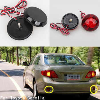 2Pcs LED Round Brake Stop Light Warning Lamp Tail Rear Bumper Reflector Lights for Nissan/Qashqai/Trail/For Toyota/Corolla - DISCOUNT ITEM  32% OFF All Category