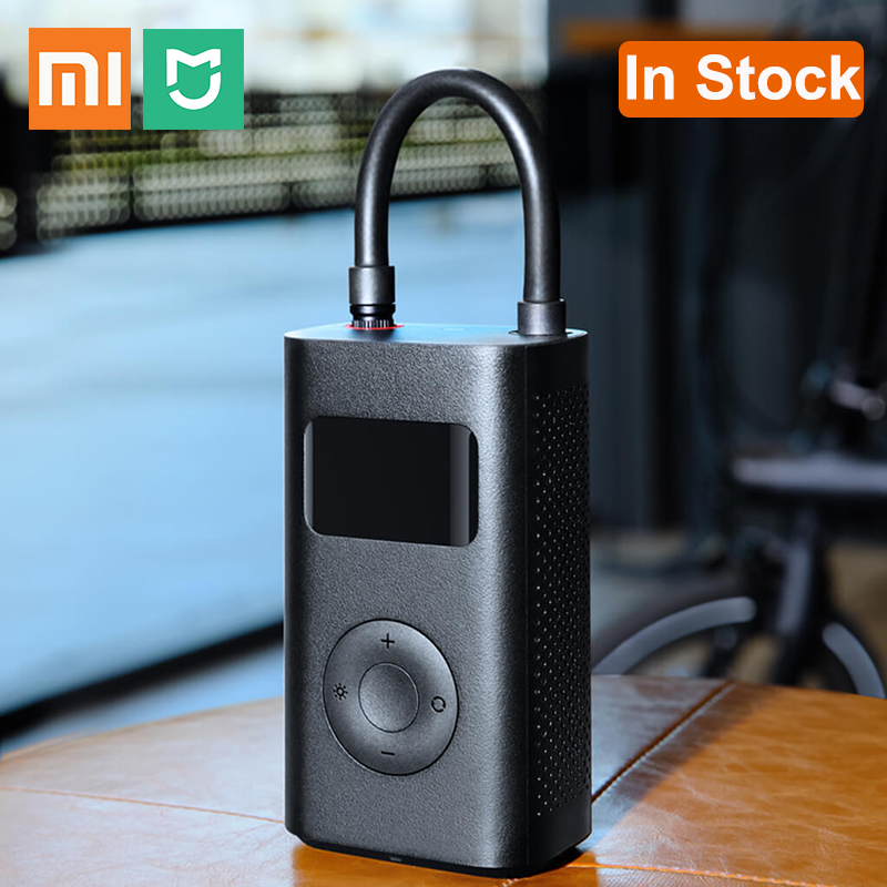 Original Xiaomi Mijia Portable Inflator Smart Digital Tire Pressure Detection Electric Pump for Bike Car Football