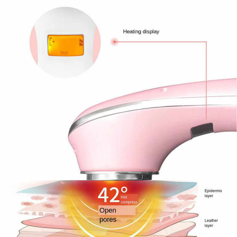 Rolo facial bonde do microniddle do massager para a cara introdução quente e fria multifuncional instrumento de limpeza beleza