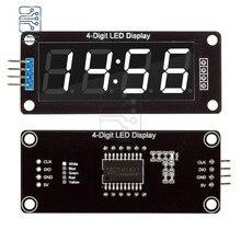 0.56 Inch TM1637 4-Digit 7 Segments LED Digital Tube Board Clock Module Decimal Double Dots 2 Pins White Display For Arduino